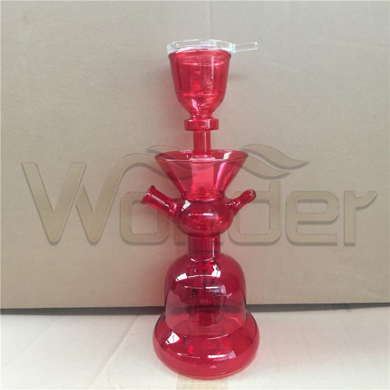 Red Handblow Glass Shisha Hookahs for Sale