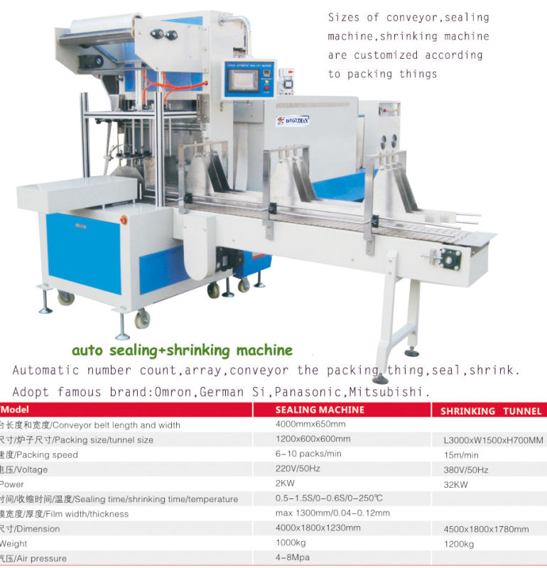Automatic Sleeve L Bar Sealing Machine with Heat Shrinking Machine for Bottles Boards and Electric Appliance Equipment