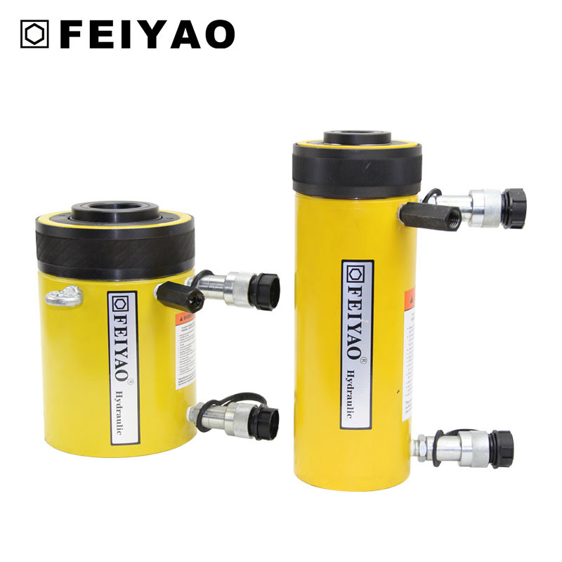 Double Acting Relief Valves Compact Hydraulic Hollow Plunger Cylinder