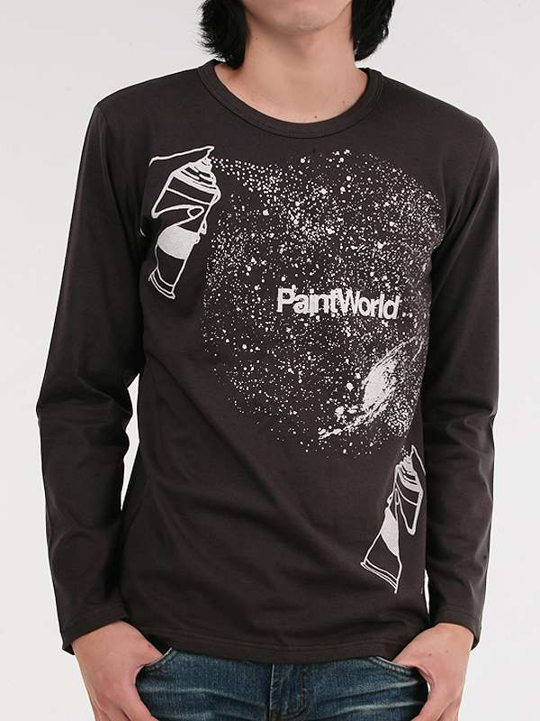 100%Cotton Wholesale Fashion Custom Long Sleeve Men T Shirt