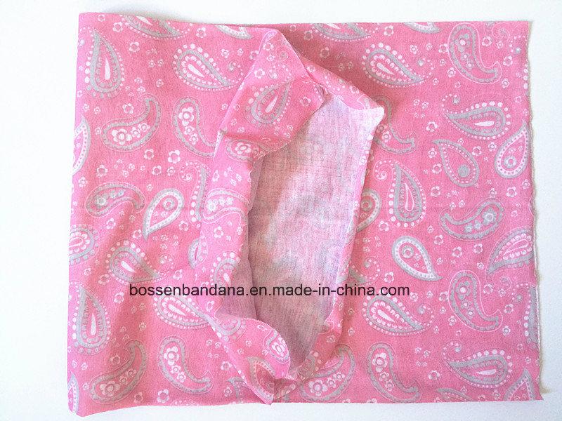 OEM Produce China Factory Pink Paisley Printed Multifunctional Headwear Scarf