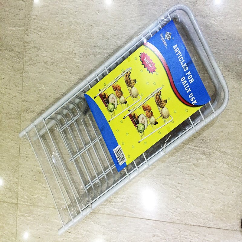 Metal Wheeled Wire Storage Basket Rack, Kitchen Wire Shelf