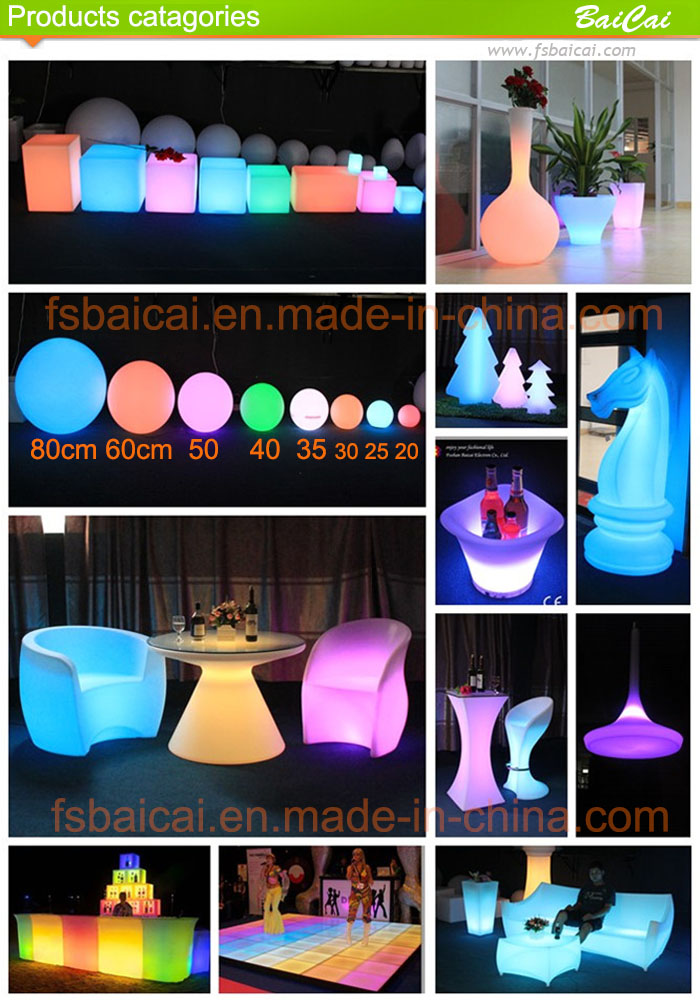 High Quality Glow Color Light LED Bar Cocktail Table