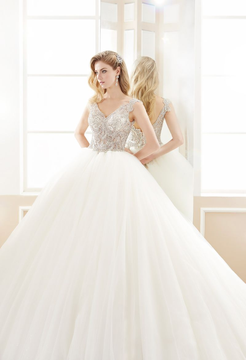 Crystal Tulle Ball Bridal Wedding Gown