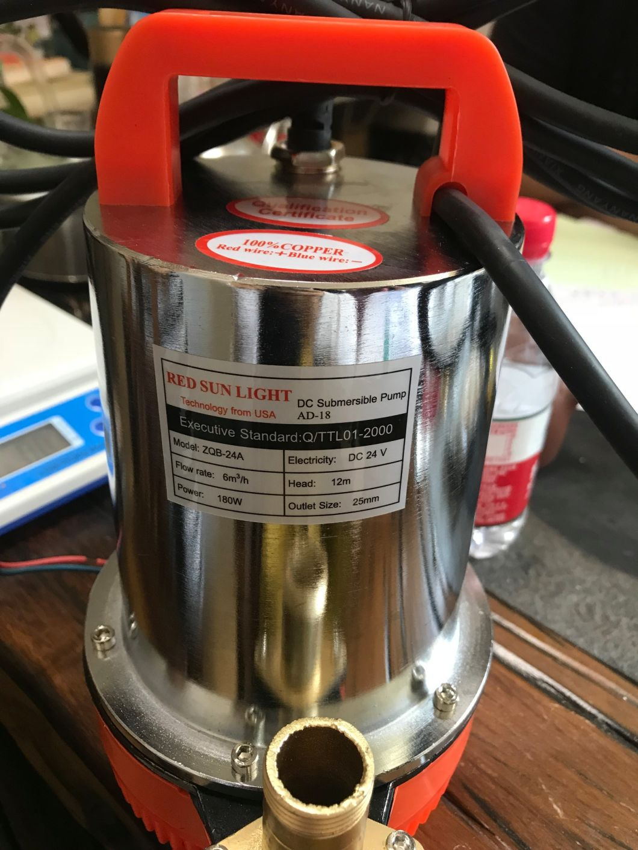 DC Battery Mini Pompa Submersible Solar Water Pump 12V/24V, DC Mini Pump