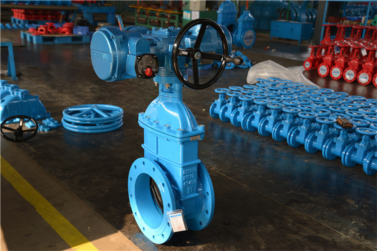 Electric Actuated Ductile Iron Material Gate Valve