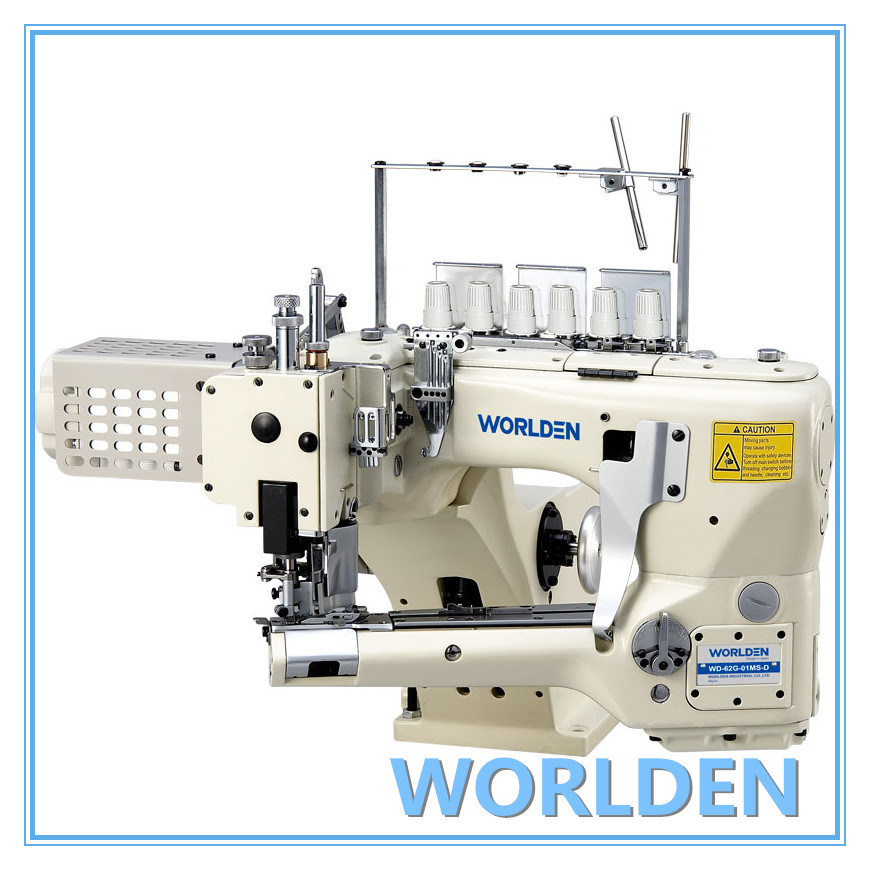 WD-62G-01MS-D 4 Needle 6 Threads Flat Seam, Single/Double Edge Cutter Feed-off-the-arm Sewing Machine