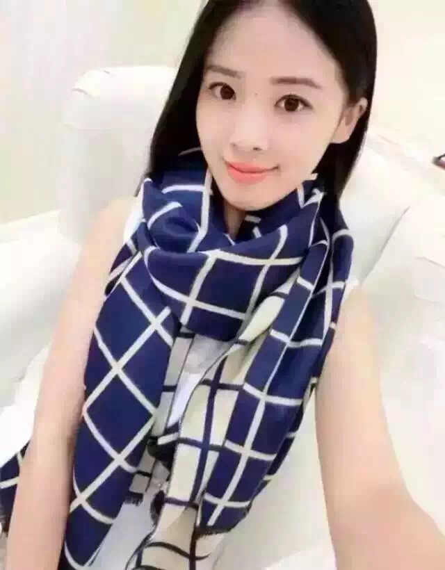 Star Style Silk Check Scarf
