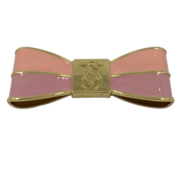Handbag Accessories Pink Metal Glued Bowknot Label