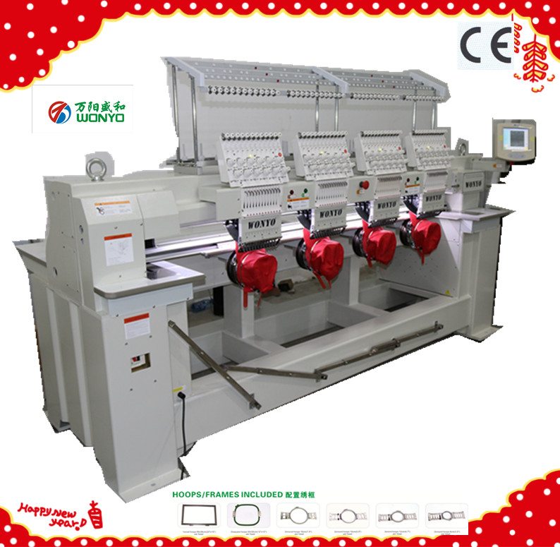 4 Heads High Speed Computerized Cap/T-Shirt Embroidery Machine Wy904c/1204c/1504c