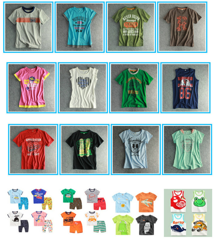 2016 New Design Fashion Boy T-Shirt in Kids Clothes (BT095)