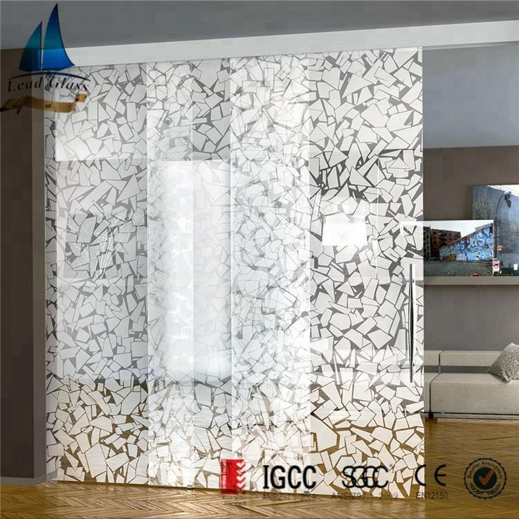 Silk Printed Glass For Partition