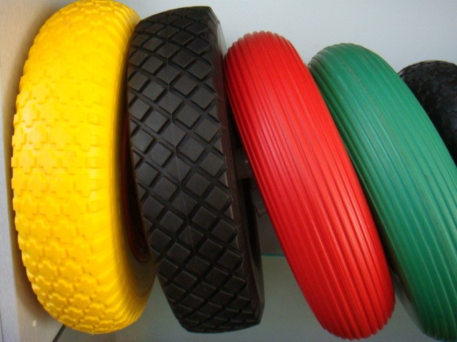 All Size Puncture Proof Wheelbarrow and Hand Trolley Rubber Polyurethane PU Foam Wheel