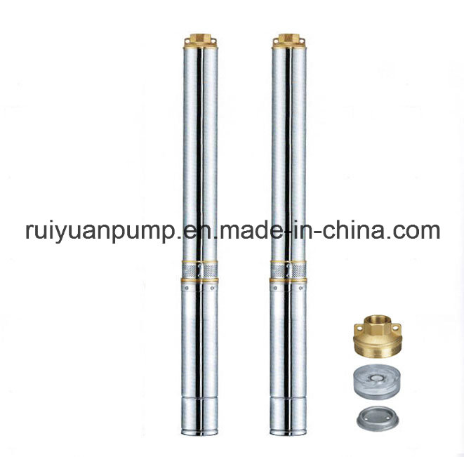 4 Inches 750W Standard Brass Outlet Deep Well Submersible Pump Water Pompa for Garden Use (4SD8-06/0.75KW)
