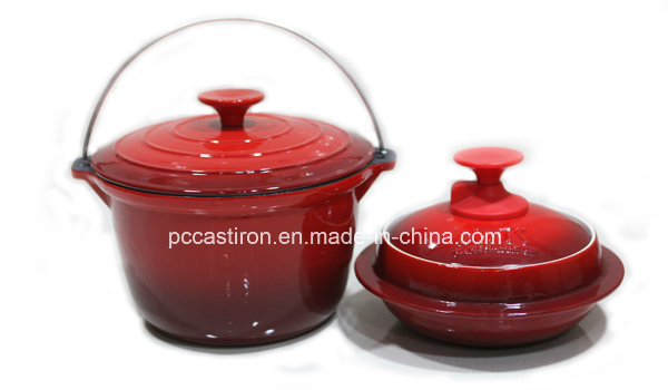 4PCS Cast Iron Cookware Set in Black Color