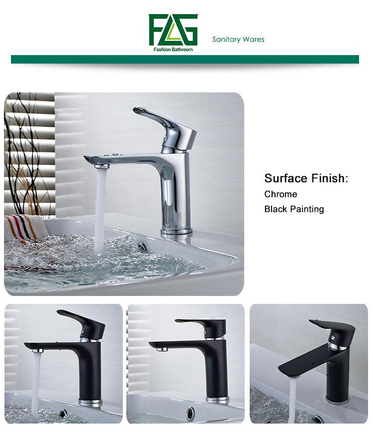 Flg Basin Faucet Chrome Deck Mounted Bathroom Tap