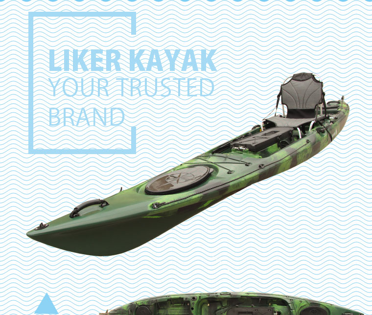 PE Rotomoulded PRO Fishing Kayak Sale Made in China Design by Liker