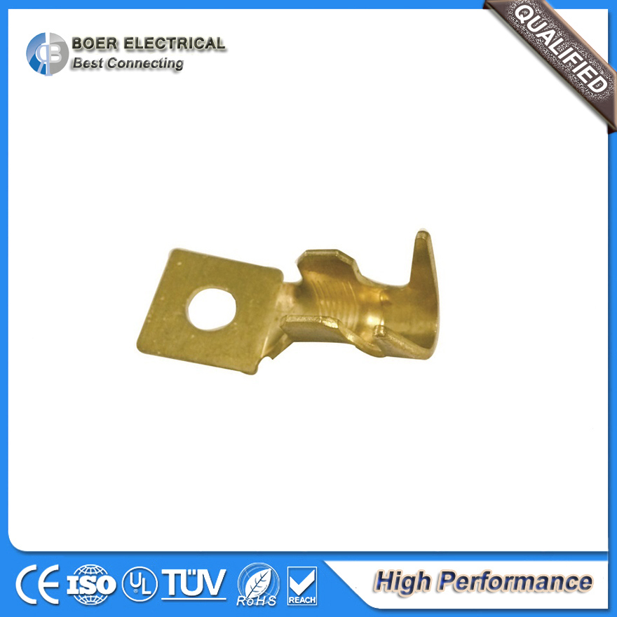 Auto Brass Cable Assembly Battery Spade Tube Terminal