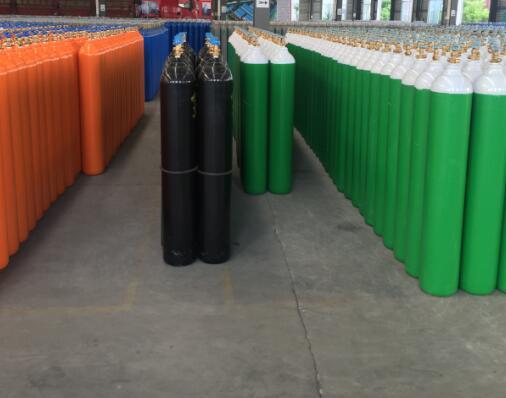 80L Nitrogen Black Gas Cylinder
