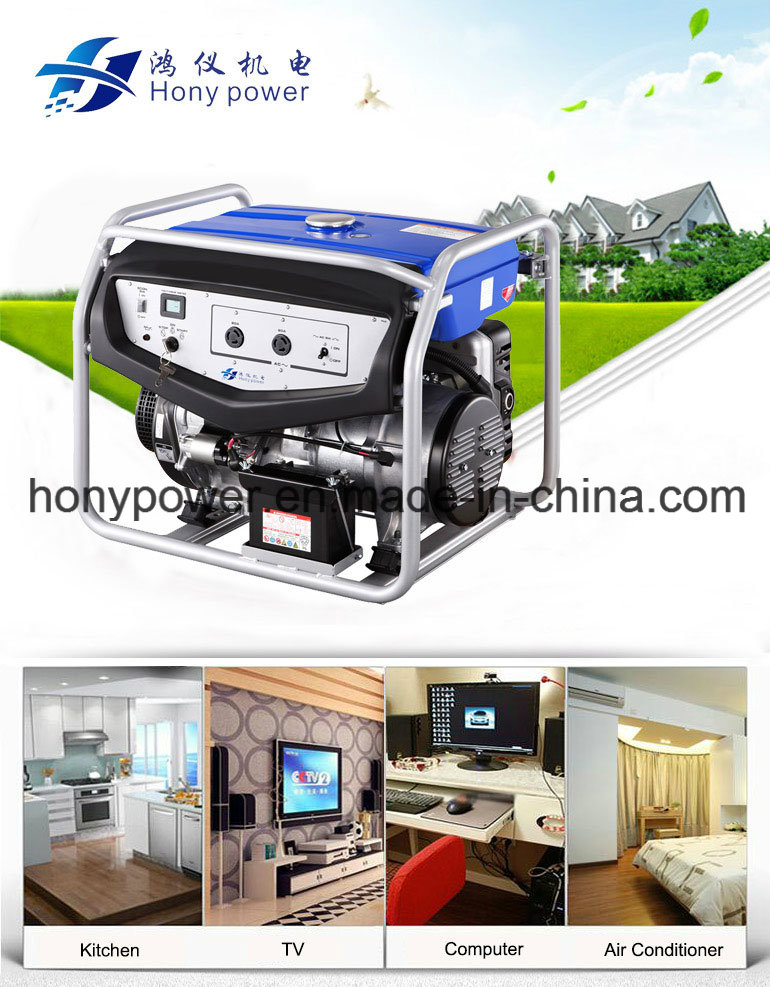 2-5kw Air Cooled Power Portable Gasoline Generator Set with Ce