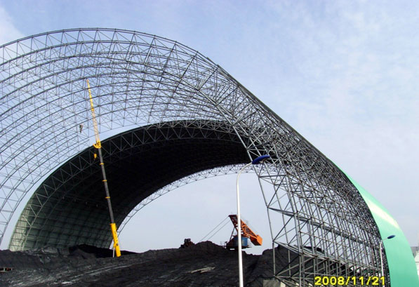 Space Frame for Coal Storage Construction