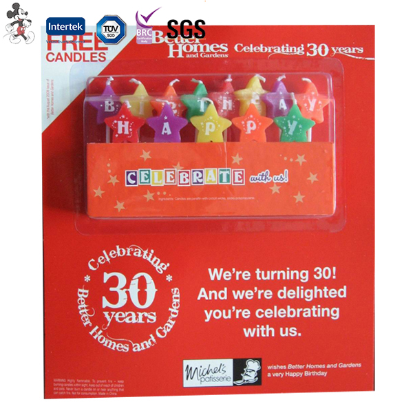 Good Quality Singing Happy Various Model Double Layer Birthday Candle