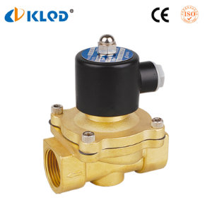 2W Model Brass Material 1 Inch Water Solenoid Valve