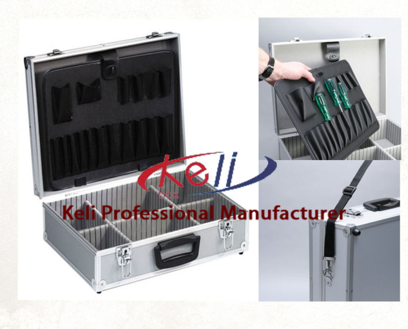 High Quality Aluminum Tool Case with Tool Pocket (KeLi-D-16)