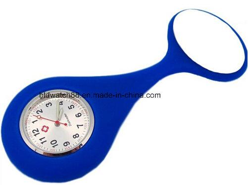 Women's Pendant Butterfly Nurse Clip Brooch Quartz Hanging Pocket Watch