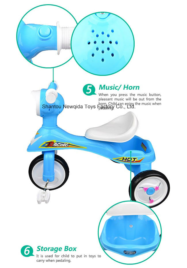 Factory Price Three Wheeler Kids Tricycle Bike Pedal Car