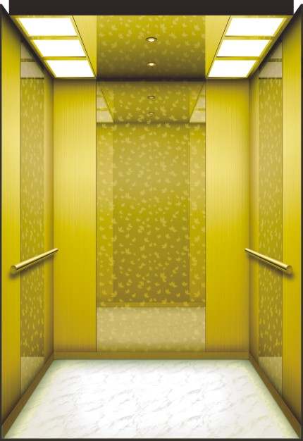 Mrl Passenger Elevator with Luxury Decoration Lift Cabin