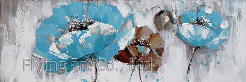 Abstract Flower Oil Painting Wall Art