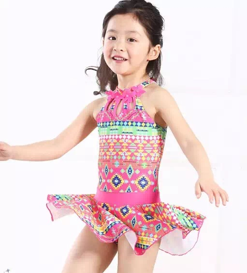 Little Girls Fashion Ruffled Swimwear