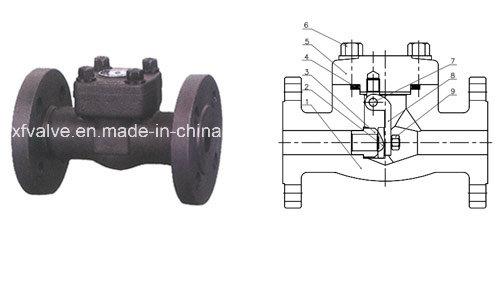 1500lb 2500lb Forged Carbon Steel A105 Flange End Check Valve
