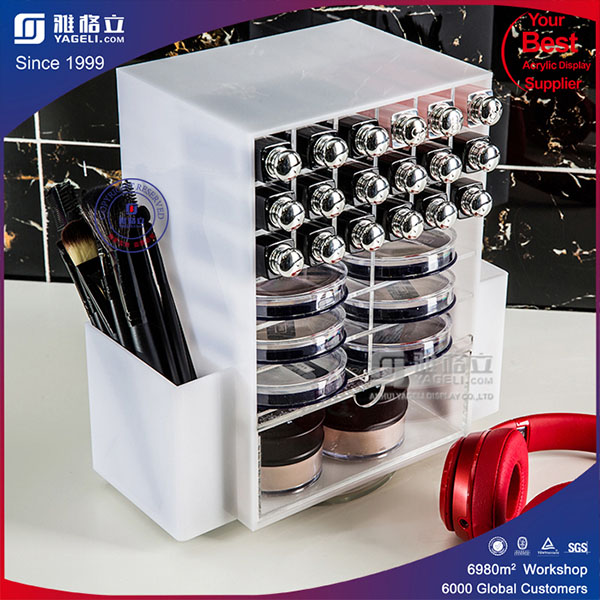 New Style Acrylic Spinning Lipstick Tower