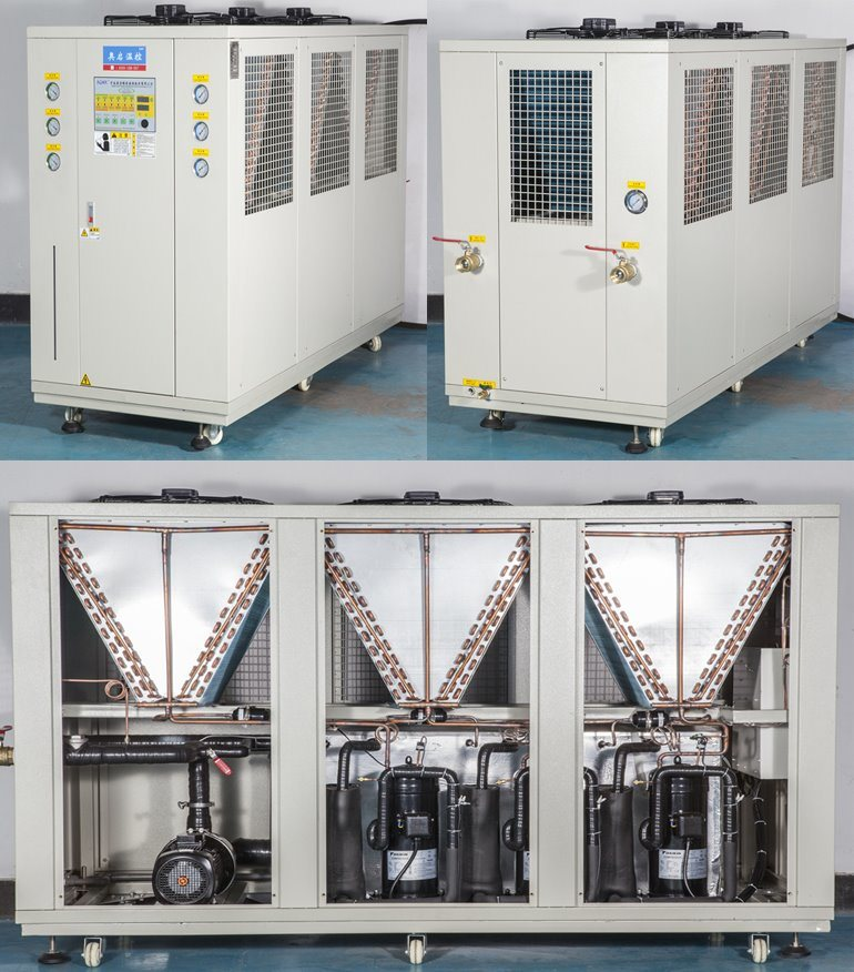 36.69kw Air Cooled Scroll Type Industrial Chiller