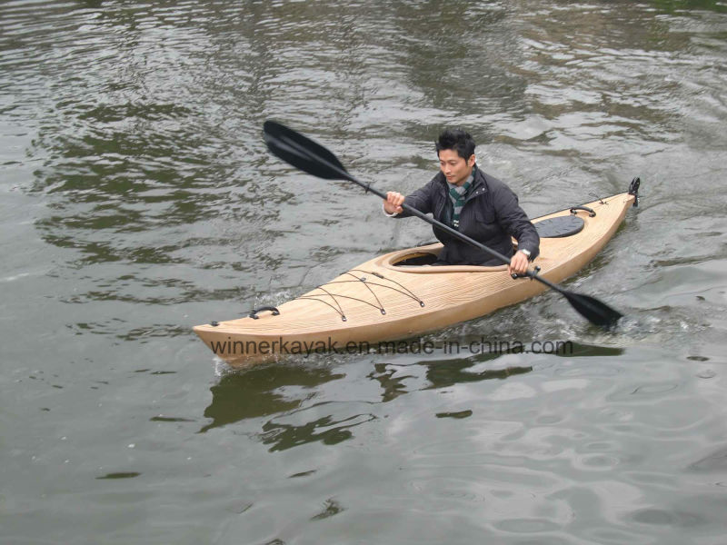 Wooden-Like Sit in Plastic Kayak