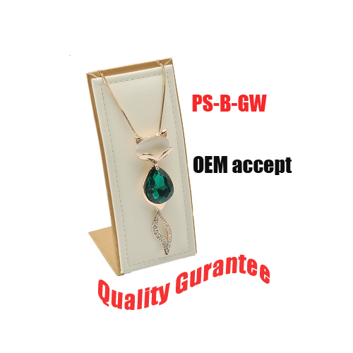 Suede Pendant Necklace Jewelry Display Stand (PS-YV1)