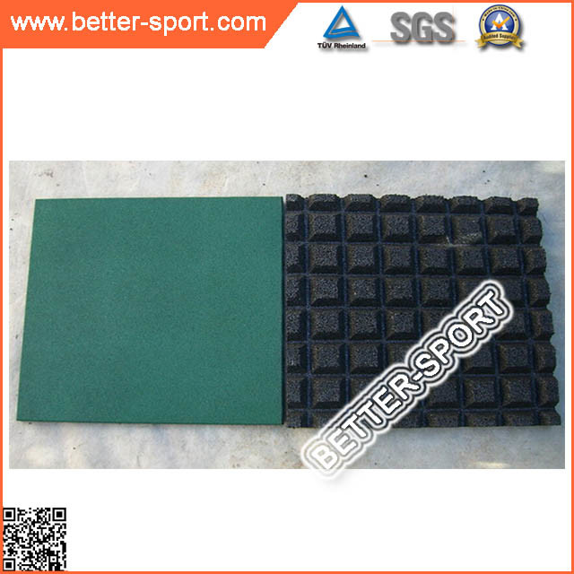 Colorful Safety Children Playground Rubber Paver Tile