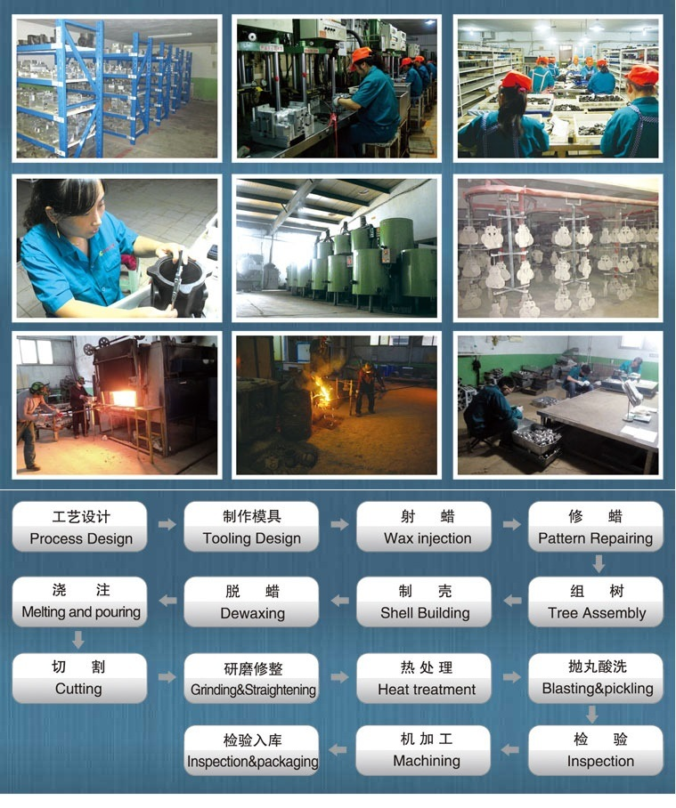 Steel Farm Machinery Parts Made by Lost Wax Casting Method