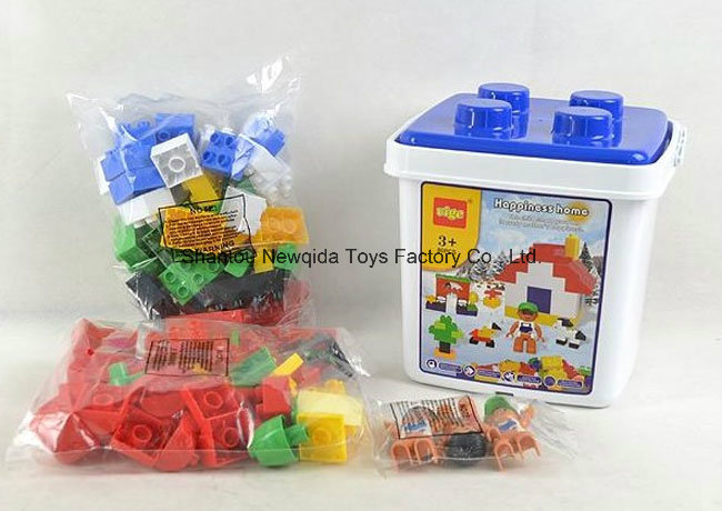 86PCS Snow Home Building Blocks Bucket Kids Toy