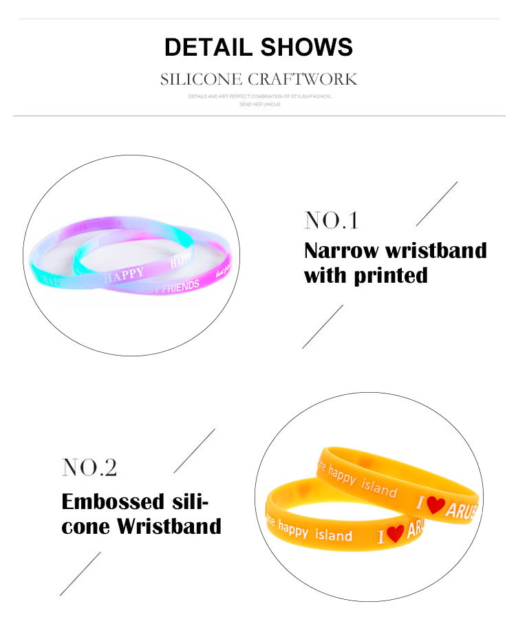 Rubber Wrist Bands in China Custom Individual Dual-Layer Silicone Charm Bracelet