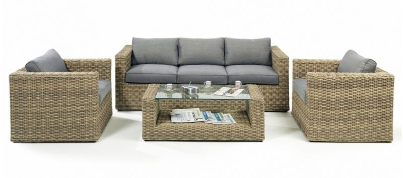 Outdoor Rattan Furniture Garden Patio Wicker Lounge Sofa Set