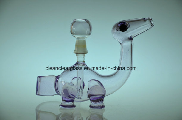 Top Sale USA Colored Material Cute Dinosaur Glass Water Pipe Smoking Pipe Oil Rig with 14.5mm Joint, for Wholesale