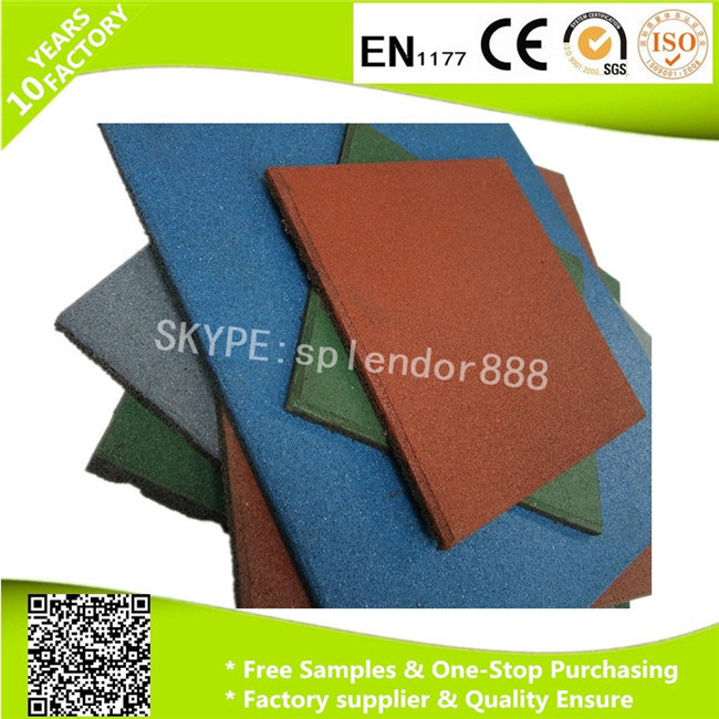 Wholesale Large Playground Outdoor Rubber Floor Tile