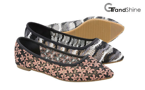 Women's Lace Causal Flat Ballet Shoes