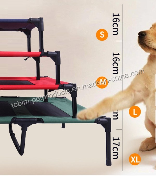 Large Indoor Outdoor Portable Elevated Camping Pet Cot Bed