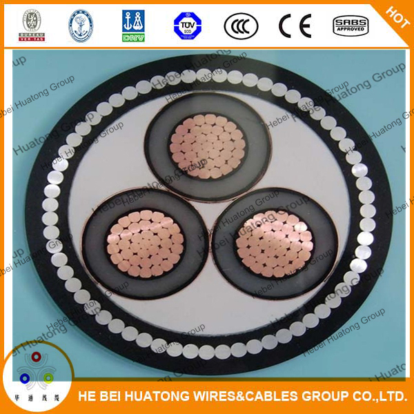 Aluminum Wire Armoured Middle Voltage Power Cable (YJV72 26/35KV)