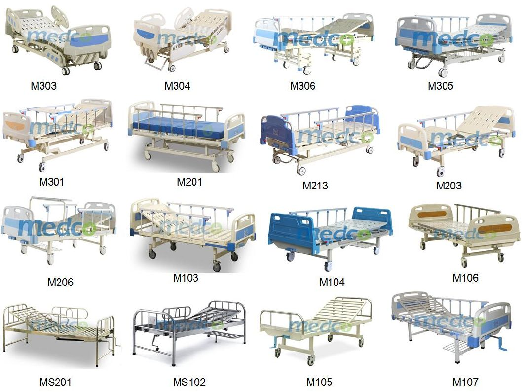 ABS Two Functions Manual Medical Beds for Patient Nursing