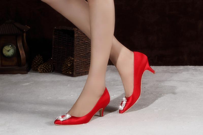 Classic Fashion High Heel Women Wedding Dress Shoes (HCY02-1869)